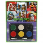 Party Facial Makeup Creams Kit with Brush - 6 Colors