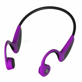 s.wear Z8 nouvelle conduction osseuse bluetooth casque mémoire fil sports de plein air imperméable à l'eau après avoir suspendu le casque bluetooth violet