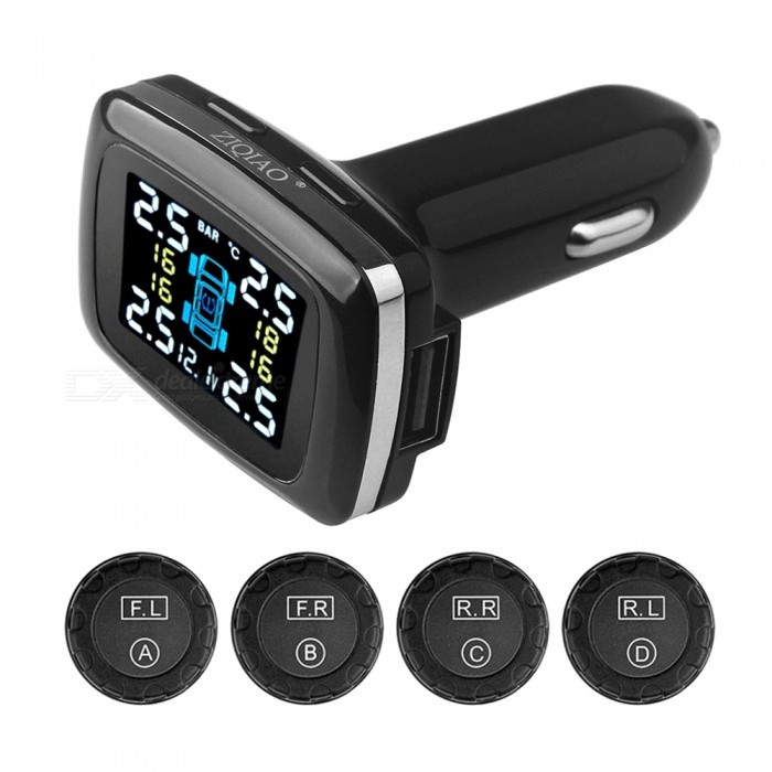 Image result for ZIQIAO Wireless Smart Real Time Digital Sensor Tire Pressure Alarm