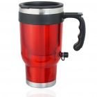 Stainless Steel Heated Travel Car Mug with Car Charger (500ml/12V)