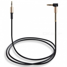 Universal Gold-plated 3.5mm Male to Male Audio AUX Cable - Black (1M)