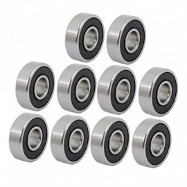 10 Pcs 19mmx7mmx6mm Single Row Metal Deep Groove Ball Bearing 607/2RS/RS