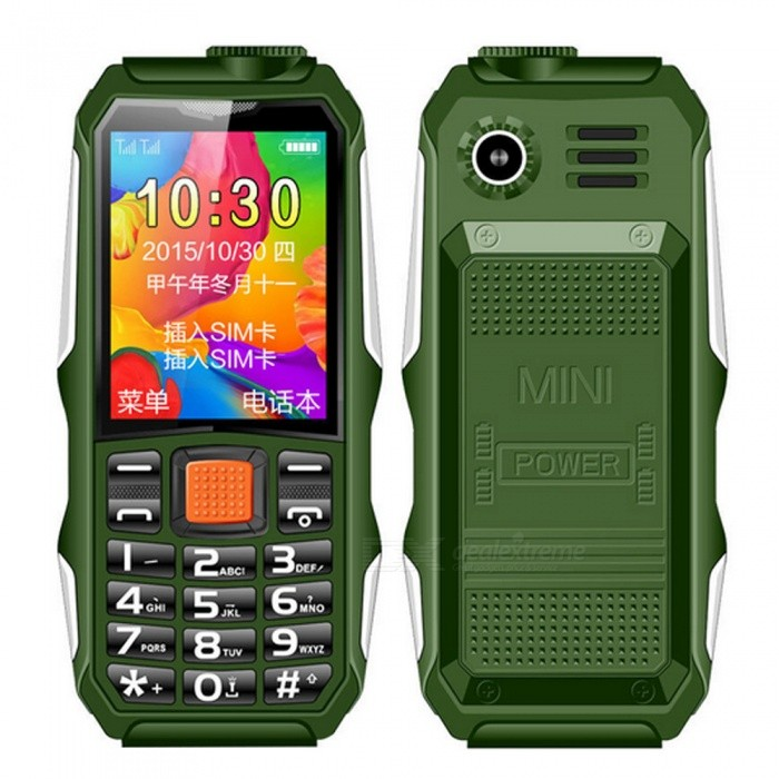 new concept 88efa 077cf H1 IP68 Waterproof Mobile Phone FM Flashlight MP3 Swimming Support  Shockproof Outdoor Dustproof Robust Phone