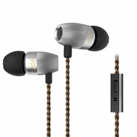 KZ ED15 In Ear Hybrid Earphones Dynamic And Armature Headsets with Microphone - Silver