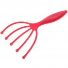 Finger Style Plastic Head Massager - Red