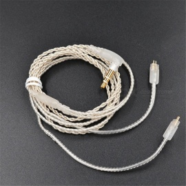 KZ 2 Pin 0.75mm Silver-plated Earphones Cord Upgrade Earphone Cable Detachable Audio Cord 3.5mm for ZS3 ZS4 ZS5 ZS6