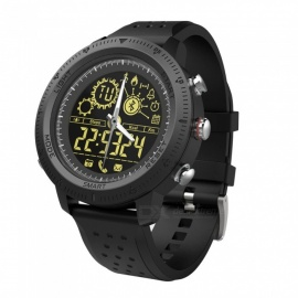 NX02 Round Screen Waterproof Sport Smart Watch Bluetooth - Black