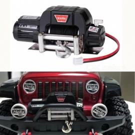 RC Car Mini Metal Electric Winch for 1/10 RC Rock Crawler Traxxas TRX-4 Axial SCX10 RC4WD D90 D110 Tamiya CC01