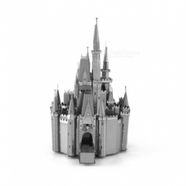 DIY 3D Metal Model Kits Puzzle Cinderella Castle Assembled Educational Toy - Silver