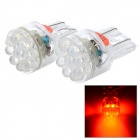 12V T20 15-LED Vehicle Lamps (2-Pack Red)