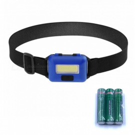 ZHAOYAO Waterproof 10W COB 3-Mode 500LM Outdoor COB LED Head Lamp - Blue With 3 AAA batteries