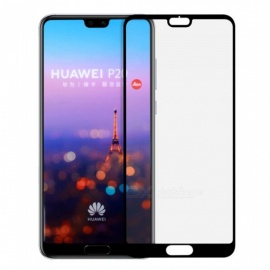 Naxtop 2.5D Full Screen Coverage Tempered Glass Protector for Huawei P20 - Black