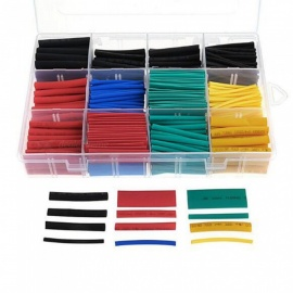 530 pcs / ensemble thermorétractable tuyau isolation shrinkable tube assortiment électronique polyoléfine ratio 2: 1 wrap fil câble kit de manchon