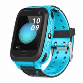 DS38 MTK3337 Processor Smart Bluetooth Watch Wristwatch - Blue