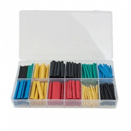 280pcs Heat Shrink Tubing Insulation Shrinkable Tube Sleeving Assortment Polyolefin Ratio 2:1 Wrap Wire Cable Sleeve Kit 8 Sizes