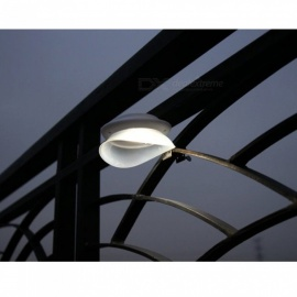 Flying Saucer Style Solar Powered Waterproof LED Outdoor Wall Lamp Cold White Light - White