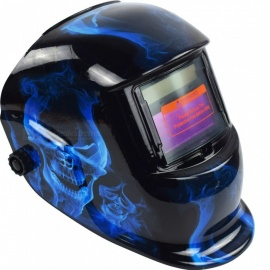 HakkaDeal WN-107 Ghost Pattern Welding Helmet Automatic Light Changing Welding Mask Head Band Welder Goggles - Black
