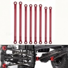 8pcs/lot Aluminum Alloy Link Rods 313MM Wheelbase for 1/10 RC Car Crawler Axial SCX10 - Red