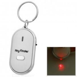 Portable Whistle Activated Key Finder with LED Light - White (2*LR41)