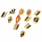 Stylish Metal Opening Ring - Style Assorted (1.8cm/12-Pack)