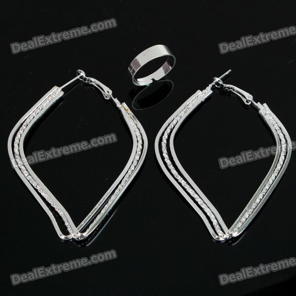 Fashion Jewelry Set Earrings + Opening Rings (10-Set Pack)