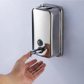 Stainless Steel Soap & Sanitizer Dispenser - Silver (800ml)