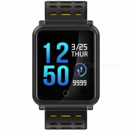 "N88 IP68 wasserdicht 1.3"" Farbdisplay bluetooth 4.2 Smart Armbanduhr - schwarz"