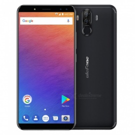 "ulefone power 3 android 7.1 6.0"" 18: 9 полноэкранный MTK6763 helio P23 face unlock quad camera 4G phone w / 6GB RAM, 64GB ROM - черный"