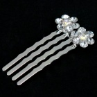 Bridal Wedding Proms Crystal Metal Hair Pin Clip Combs (12-Piece Pack)