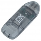 USB 2.0 SD Card Reader with DX Logo (Transparent Grey)