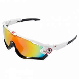 WG9270 Polarized Sport Sunglasses - Orange REVO + White