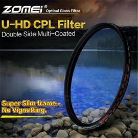 ZOMEI Circular Polarizer Filter HD Slim CPL 18 Layers Optical Camera Lens Caliber 72mm