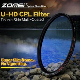 ZOMEI Circular Polarizer Filter HD Slim CPL 18 Layers Optical Camera Lens Caliber 77mm