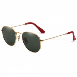 HarleyMick 3548 Personality Fashion UV400 Protection Sunglasses - Gold + Dark Green