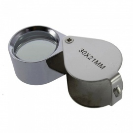 Kitbon Mini 30x Loupe Magnifier 30x21mm Folding Jewelry Magnifying Glass