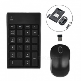 2.4G Auto-Link Wireless Keypad Number Keyboard & Optical Mouse Combo Set For Desktop Computers Laptops