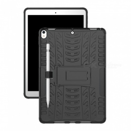 "Double-protection Back Case with Stand for IPAD Pro 10.5"" - Black"