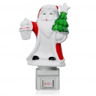 2-Mode 5W Warm Yellow Night Light with Santa Claus Figure Style Ceramic Lampshade (110V/EU Plug)