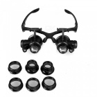 Magnifying Glass 10X 15X 20X 25X Eye Jewelry Watch Repair Magnifier Loupe With 2 LED Lights