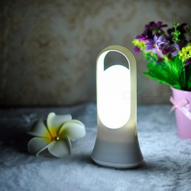 Creative Smart PIR LED Human Body Induction Light Flashlight Decoration Table Lamp Desktop Light White/White