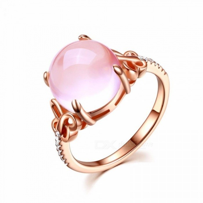 MOONROCY Cubic Zirconia Rose Gold Color Ross Quartz Crystal Pink Opal Ring  Butterfly Jewelry Wholesale for Women Rose Gold Color Pink Resizable - Free  ... 0678a9c91d
