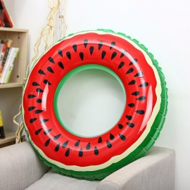 Outlife Watermelon Inflatable Adult Kids Swimming Ring Inflatable Pool Float Circle For Adult Children (230g) Red
