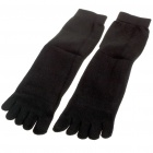 Cute Cotton Five Fingers Toe Socks - Black (Pair)