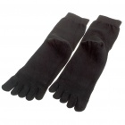 Симпатичные Cotton Five Fingers Toe Socks - Черный (пара)