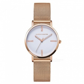 Hannah Martin 3801 Women Quartz Wrist Watch Japanese Movement - Gold