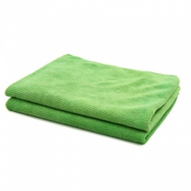 CARKING 2pcs 300gsm 65 x 33cm Green Water Absorbing Microfiber Car Body Cleaning Towels - Green