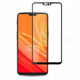 Naxtop 2.5D Full Screen Coverage Tempered Glass Protector for OnePlus 6 - Black