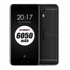 ulefone power 2 android 7.0 6050mah batería smartphone w / 4GB RAM 64GB ROM - negro