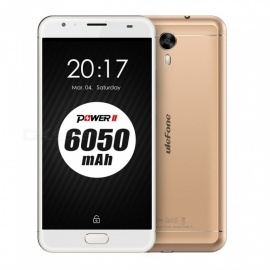 Ulefone Power 2 Android 7.0 6050mAh Battery Smartphone w/ 4GB RAM 64GB ROM - Golden