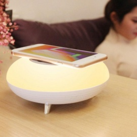 P-TOP LED Night Light sensing Phone Wireless Charging Socket Mobile Phone Charger 3W LED Night Lamp - Warm White